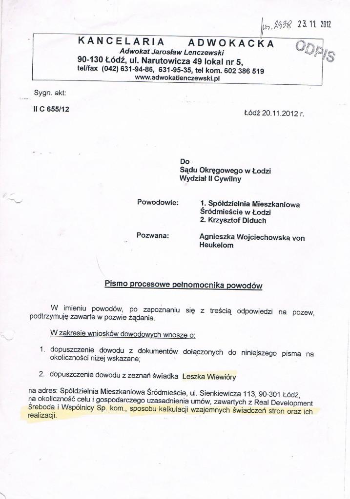 Pismo procesowe Lenczewski 20_11_2012_1