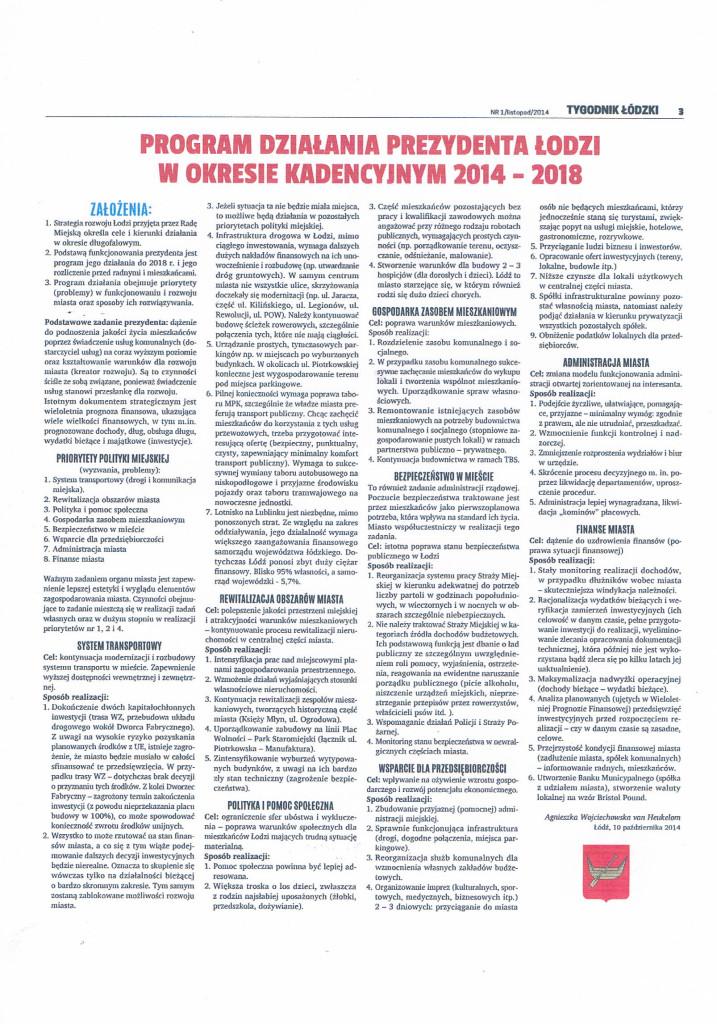 Program Działania Prezydenta Łodzi