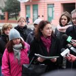 Działacze ECIO : Agnieszka Wojciechowska van Heukelom i Janusz MIkosik wśród lokatorów