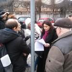 spotkanie protestujących z dzienikarzami