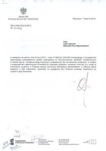 odpowiedź MIn INF do RPO