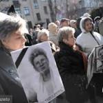 marsz z portretami Jolanty Brzeskiej