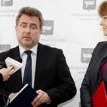 Marek Cieślak z prezydent Hanną Zdanowską